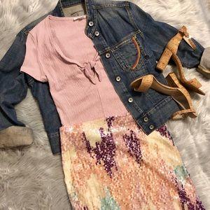 🆕 Zara Sequin Midi Skirt